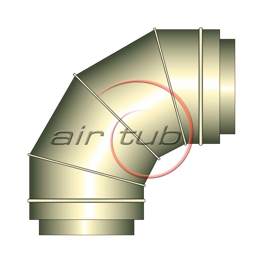 CODO 90 DOBLE INOX INOX AIR TERMIC GALVA AIRTUB