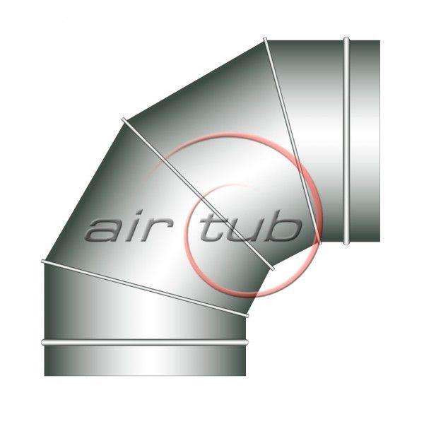 CODO 90 SEGMENTOS HELICOIDALES GALVANIZADOS CIRCULAR TUBO CURVA AIR GALVA AIRTUB