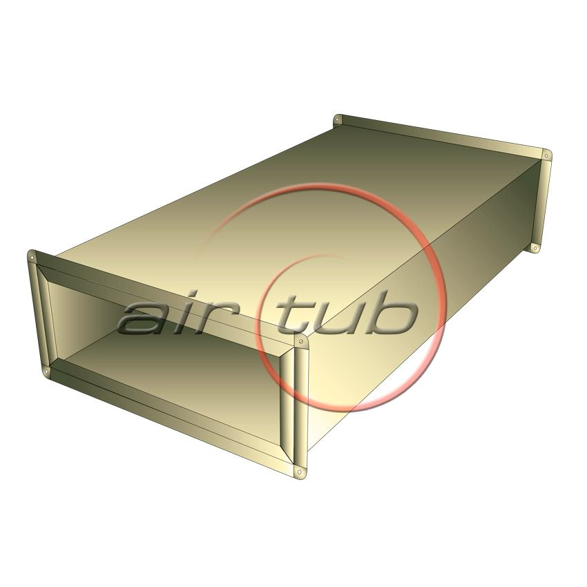 CONDUCTO DOBLE INOX INOXIDABLE CONDUCTO RECTANGULAR PERFIL INTEGRAL