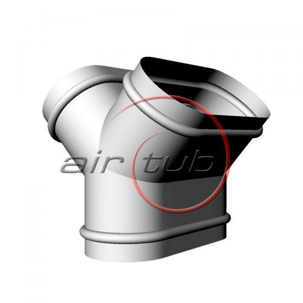 DERIVACION VERTICAL AIR OVAL AIRTUB