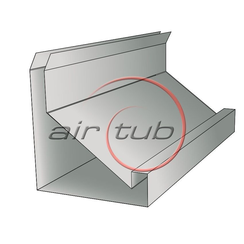 PERFIL METU 20 30 GALVANIZADO CONDUCTO RECTANGULAR AIR TUB
