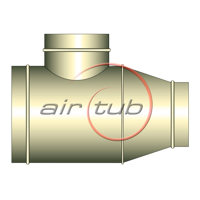 TES CONICAS REDUCCION 90 INOXIDABLES AIR INOX AIRTUB